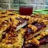 Пирог с яблоками и ревенем