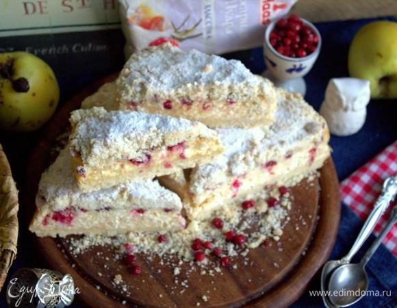 Творожный пирог из крошки