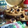 Песочное печенье с черничным джемом