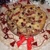Пирог с клюквой, яблоком и корицей