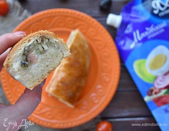 Пирог «Елочка» из дрожжевого теста на майонезе