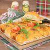 Закусочные рогалики с курицей в сырной заливке