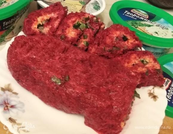 Овощной рулет с творожным сыром