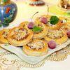 Десерт «Гнезда» с апельсиновым кремом