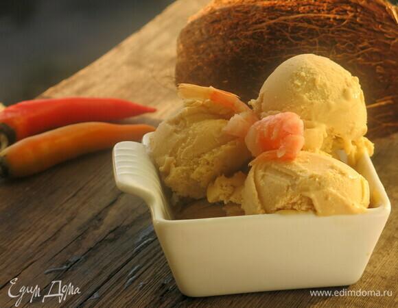 Мороженое на кокосовом молоке со специями