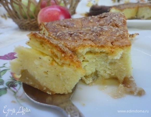 Творожно-ванильная запеканка с яблоками