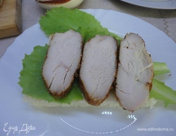 Куриная ветчина на завтрак