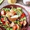 Салат из копченых овощей и шампиньонов