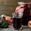 Яблочный компот с черноплодкой и мятой