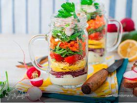 Салат в банке: рецепты салатов для перекуса на работе