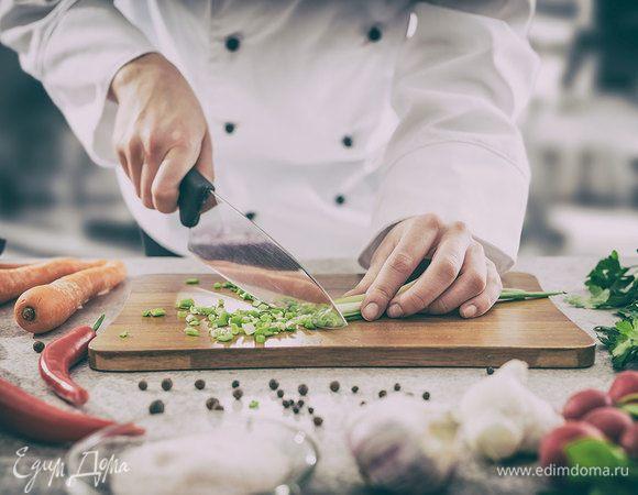 Виды кухонных ножей: инфографика