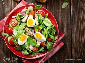 Сочетания ингредиентов для салатов: инфографика