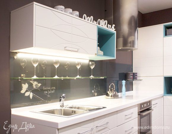 Cтеновая панель by Julia Vysotskaya в Мастерской кухонь «Едим Дома!»