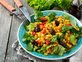 Чистая польза в банке: готовим салаты с кукурузой и зеленым горошком