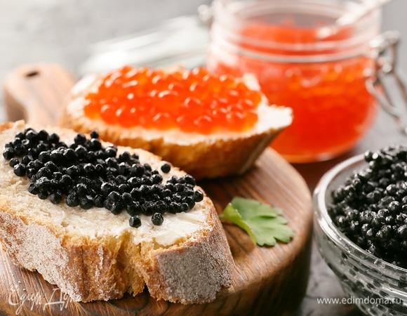 Рыбные деликатесы: все, что надо знать о красной и черной икре