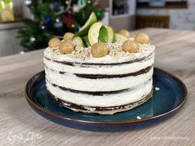 Олег жарит! Черемуховый торт с кедровым марципаном