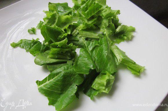 Листовой салат порвать руками