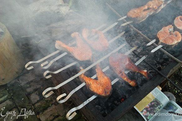 На следующий день приготовить рыбу на костре. Приятного аппетита!!!