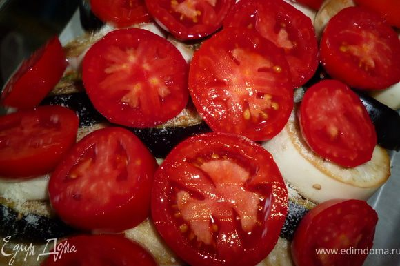 Следующий слой помидоры...