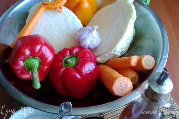 Подготовить продукты. У меня был ЯБЛОЧНЫЙ уксус, но с простым тоже вкусно.