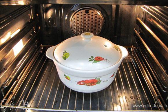 Заранее нагрейте до теплого состояния супницу (я грел в духовке при температуре 50 градусов).