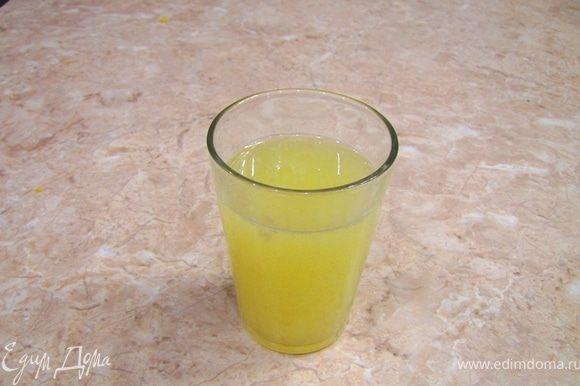Из лимонов выжмите сок в отдельную посуду.