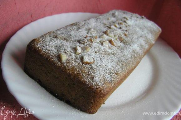 Перед подачей кекс посыпать сахарной пудрой.