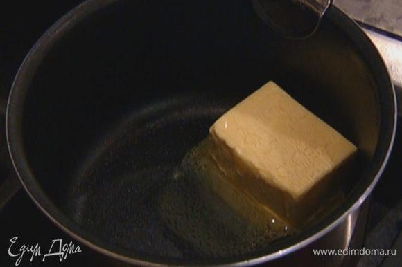 Растопить 80 г сливочного масла.