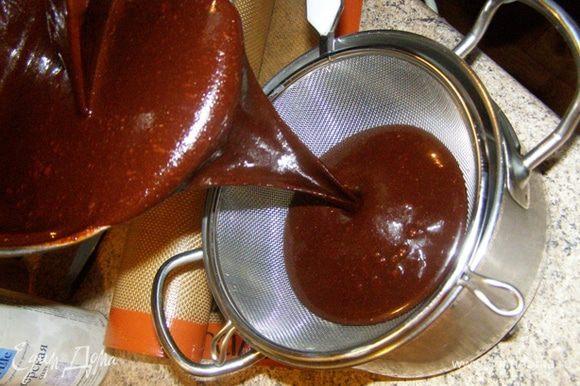 Глазурь процедим в посуду как можно меньшего объема