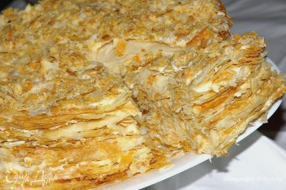 """Удивить себя и гостей шедевром из слоеного теста, знаменитым тортом """"Наполеон"""": http://www.edimdoma.ru/recipes/35510"""