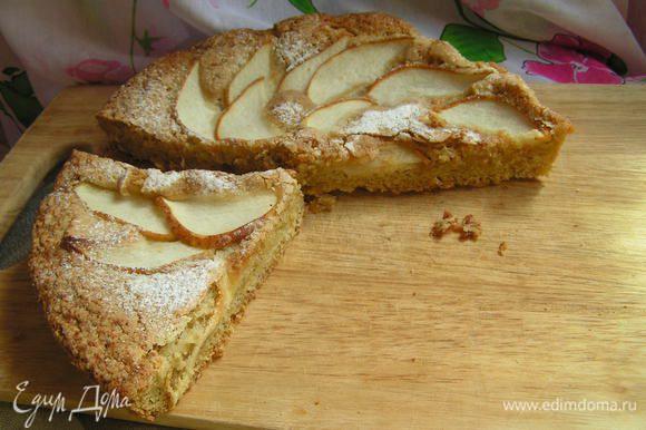 Выпекать пирог 35-40 минут Горячий щедро посыпать пудрой, остудить и подавать) Приятного аппетита!!!)