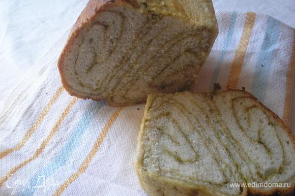 Выпекаем в ранее разогретой духовке при темп.220 гр. 40 -45 минут . Если верх хлеба начнет в процессе выпечке немного подгорать, то накройте фольгой. Остужаем хлеб на решетке и наслаждаемся!