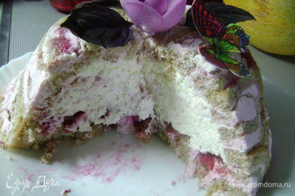 ...и voila! наш тортик в разрезе!
