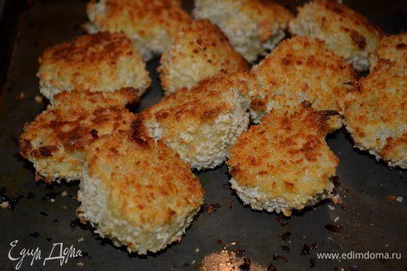 Картофельные шарики на противне ставим в духовку на 30 мин. Перевернем раз. И подаем с кетчупом как гарнир или как дополнит. горячее блюдо, закуску.