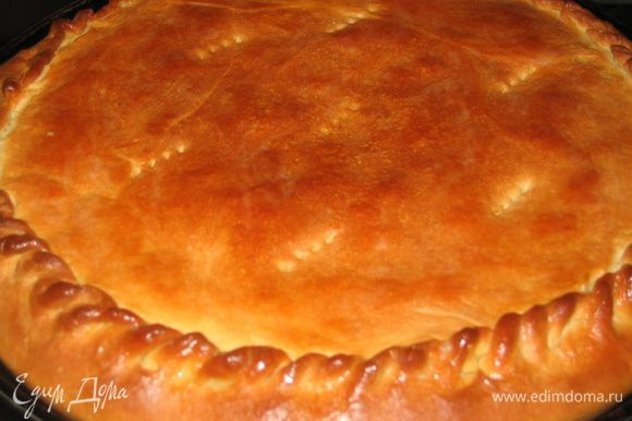 Капустный пирог с шафраном готов...сочный, ароматный и очень родной. Приятного аппетита!