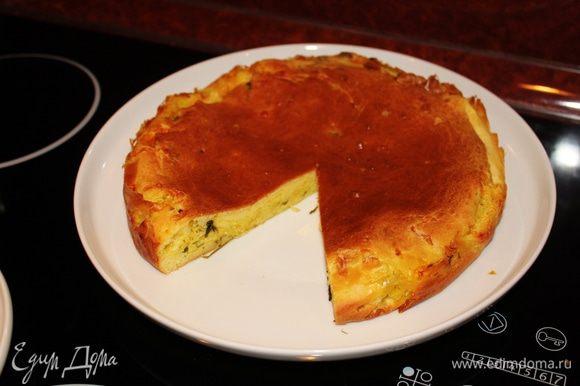 Пирог готов. Кушать теплым! Очень вкусно!