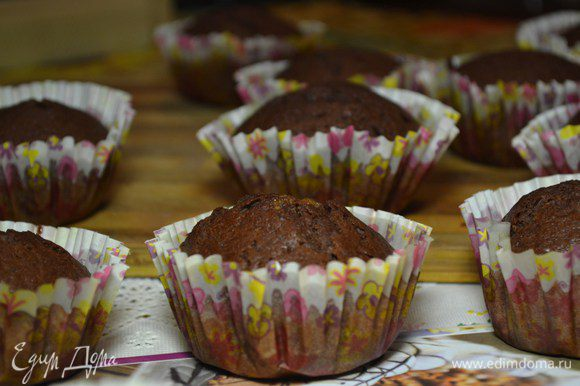 Выпекать кексы около 25-30 мин.