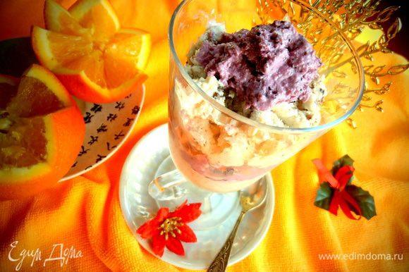 Предлагаем апельсинки к мороженому!