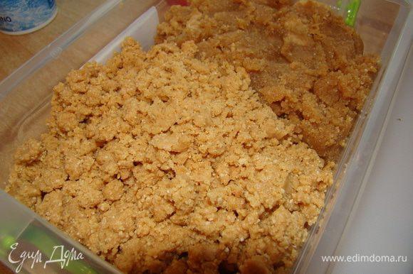 Орехи следует перемолоть с мукой, добавить мед и масло - хорошо все соединить. ------ предварительно орехи обжарить в духовке до красивого золотого цвета, так вы только улучшите вкусовые и ароматические свойства арахиса