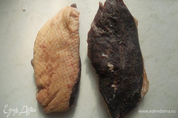 После вынуть из соли, хорошо обтереть бинтиком смоченным коньяком.