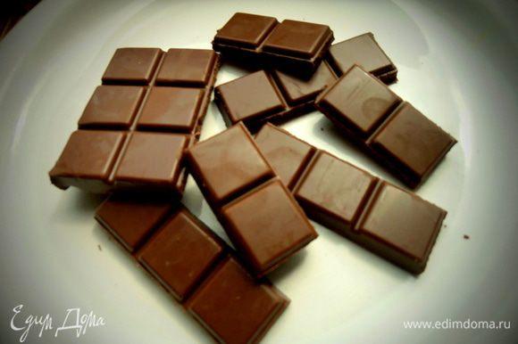 Пока топим для глазури плитку шоколада,который больше нравится,добавив немного водички или сливок.
