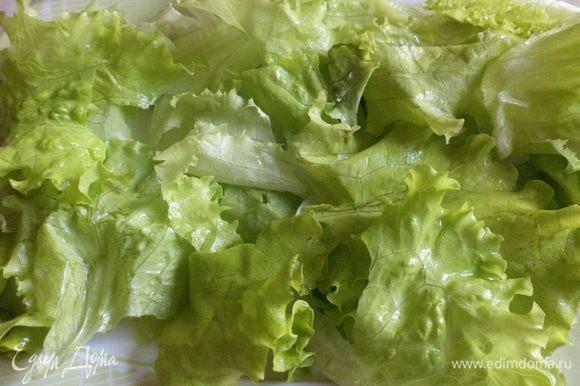 порвем на тарелку листья салата