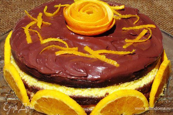 И Шоколадно-апельсиновый торт от Ниночки (NIN@G.LOV.) http://www.edimdoma.ru/retsepty/51684-shokoladno-apelsinovyy-tort-zima-do-vstrechi. Восхитительный торт!!! Сочетание шоколадных коржей и апельсинового крема... невероятно вкусное!!