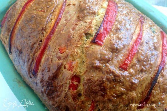 Готовому хлебу дать хорошо остыть. Затем нарезать ломтиками и подавать к столу! Buon appetito!!!)))