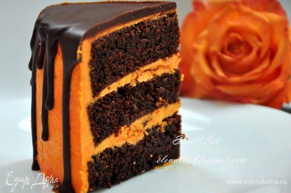 Когда глазурь застынет, торт готов!!!! Приятного аппетита!!!!!!!!