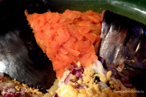 Шапочку из моркови.