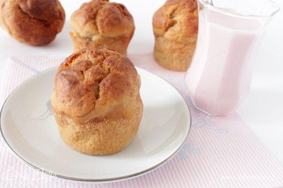 Готовые кексы оставить еще на 5-10 минут в приоткрытой духовке,затем достать и остудить, приятного вам чаепития!