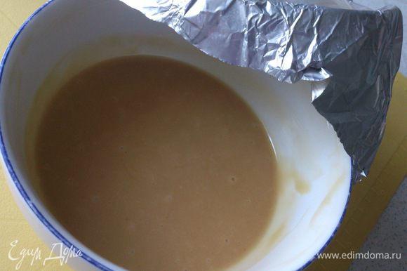 Накрыть крем фольгой и выдержать на холоде не менее суток.