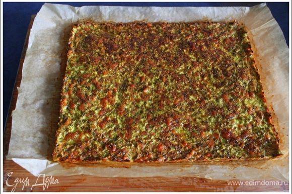 Запекаем в разогретой до 180 гр духовке ok. 30 минут. Смотрите по верхушке, должно красиво зарумяниться.