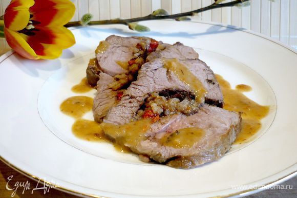 И вот оно — наше мясо! Подавать можно с любимыми овощами или салатом. Угощайтесь!!!